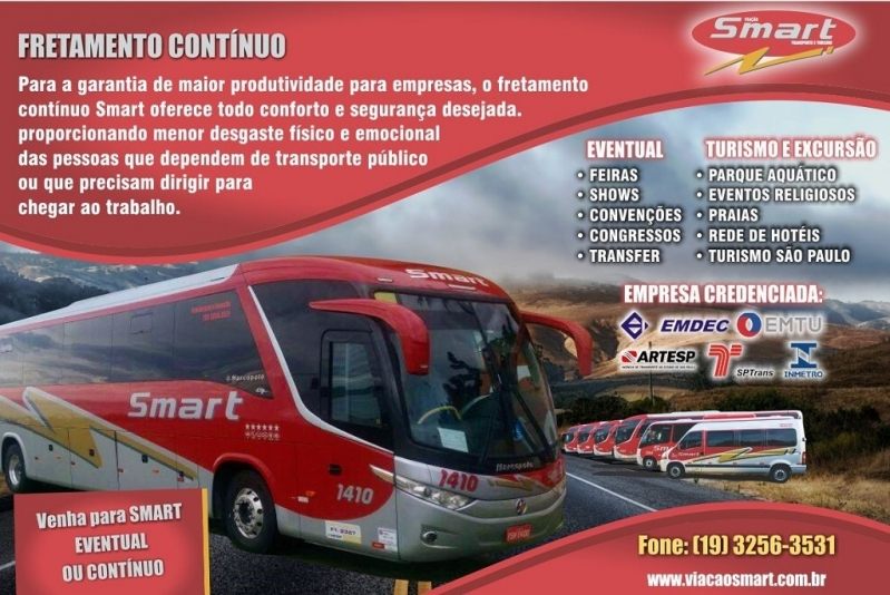 Empresa de Fretamento de ônibus para Turismo Hortolândia - Fretamento de ônibus de Empresa