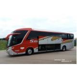 contratação de ônibus fretado para turismo Chácara da Barra